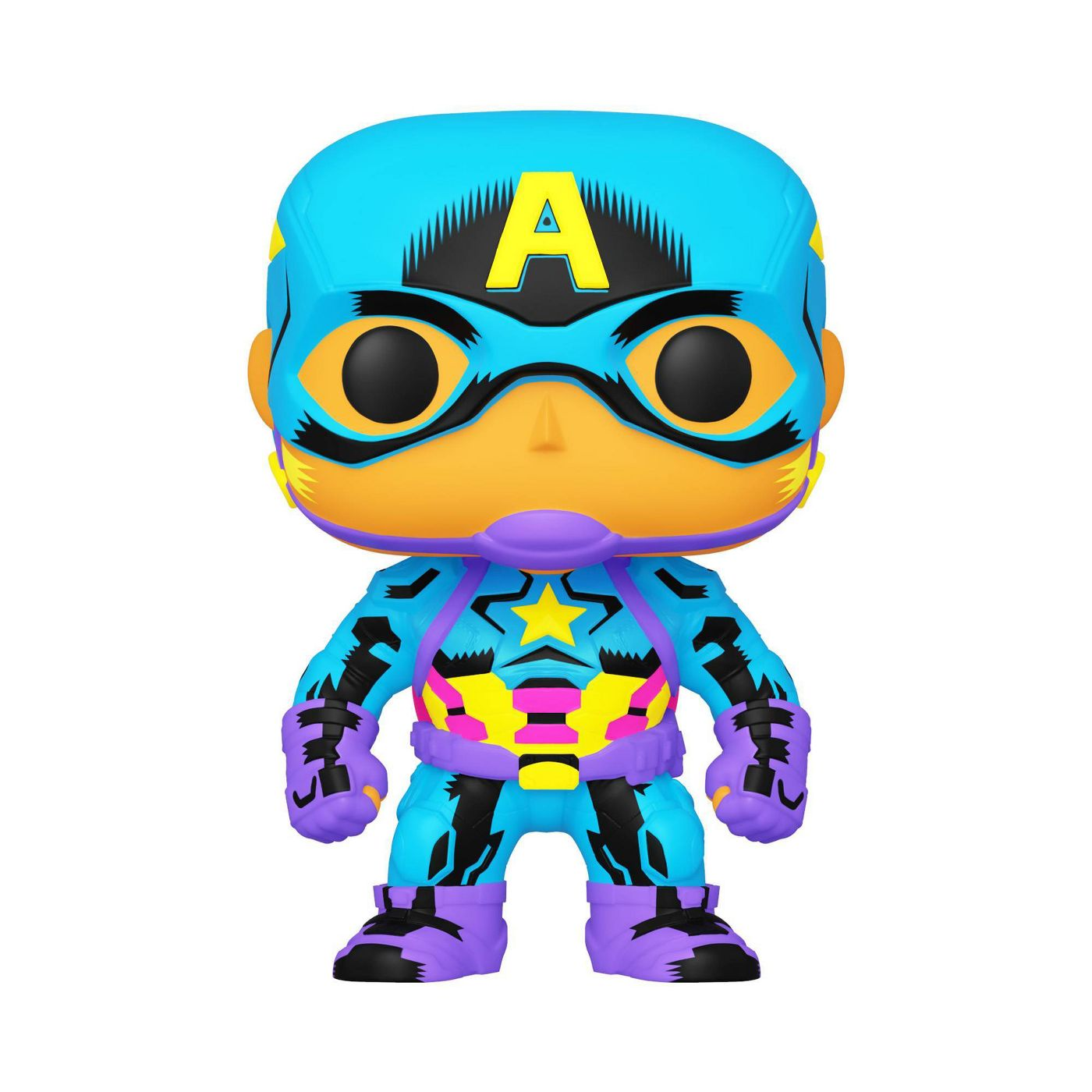 Marvel Black Light Captain America Exclusive