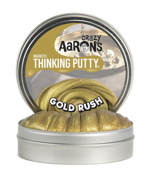 Gold Rush Magnetic 4-inch Thinking Putty Tin with Magnet