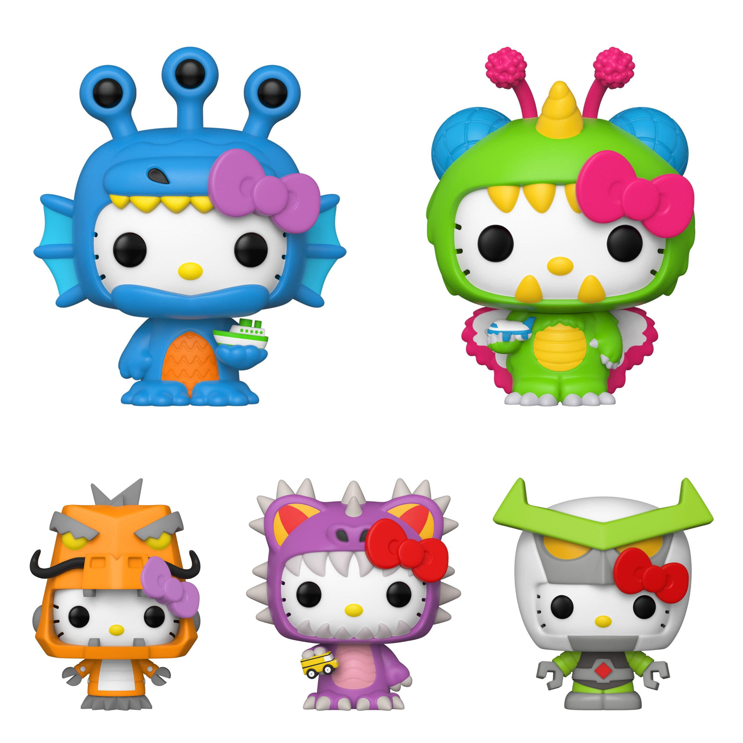Sanrio Hello Kitty x Kaiju Bundle [5 Figures] (Preorder)