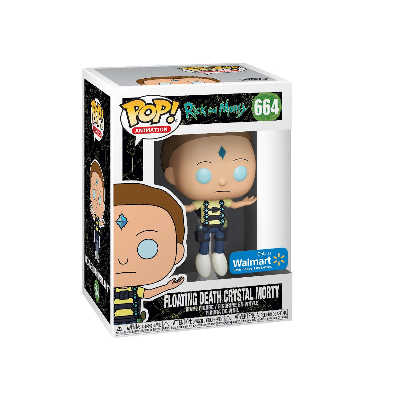 Rick and Morty Floating Death Crystal Morty Exclusive