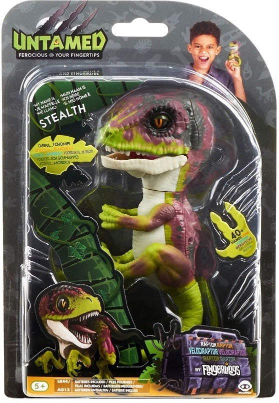 Fingerlings Untamed Dinosaur Stealth the Velociraptor Figure (Green)