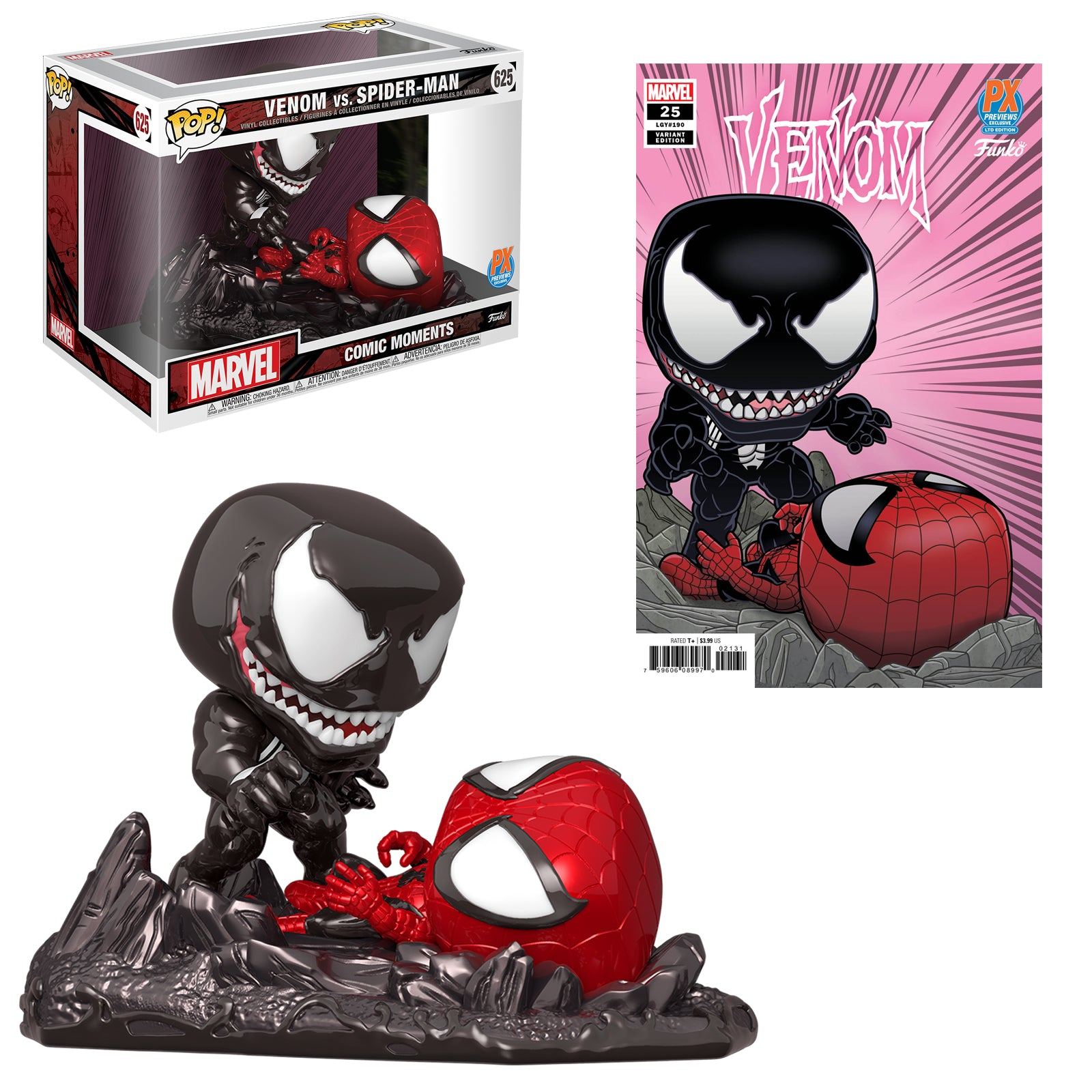 Marvel Spider-Man vs. Venom 2-Pack Previews Exclusive with Comic
