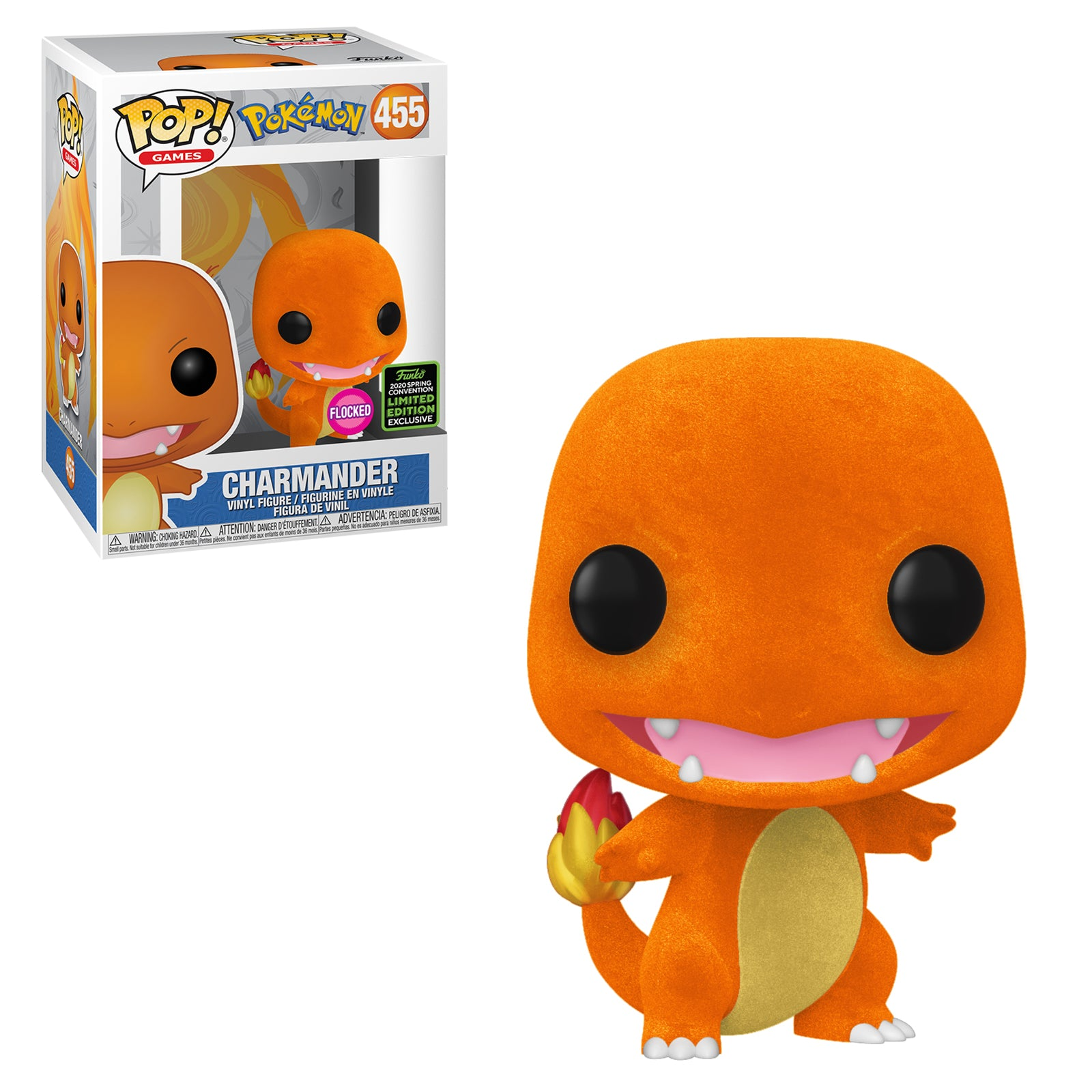 Pokemon Charmander Flocked Spring Convention Exclusive