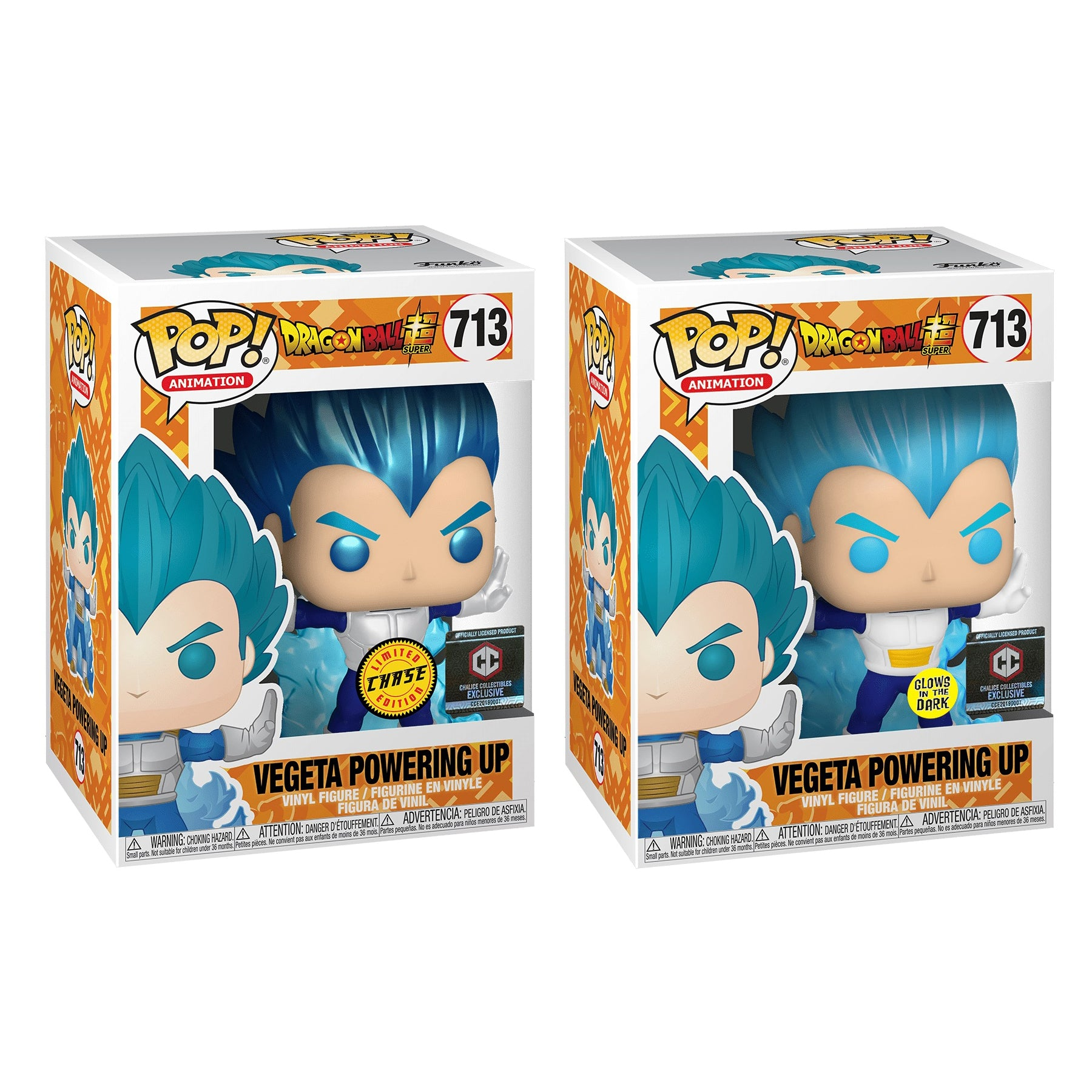 Dragon Ball Super Vegeta Powering Up Exclusive Chase Bundle (2 Figures)