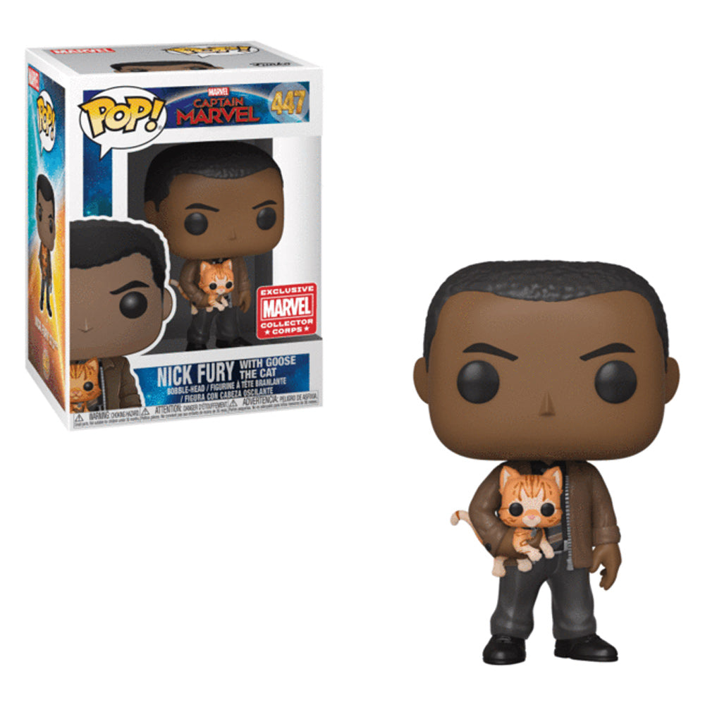 Captain Marvel Nick Fury with Goose the Cat Exclusive