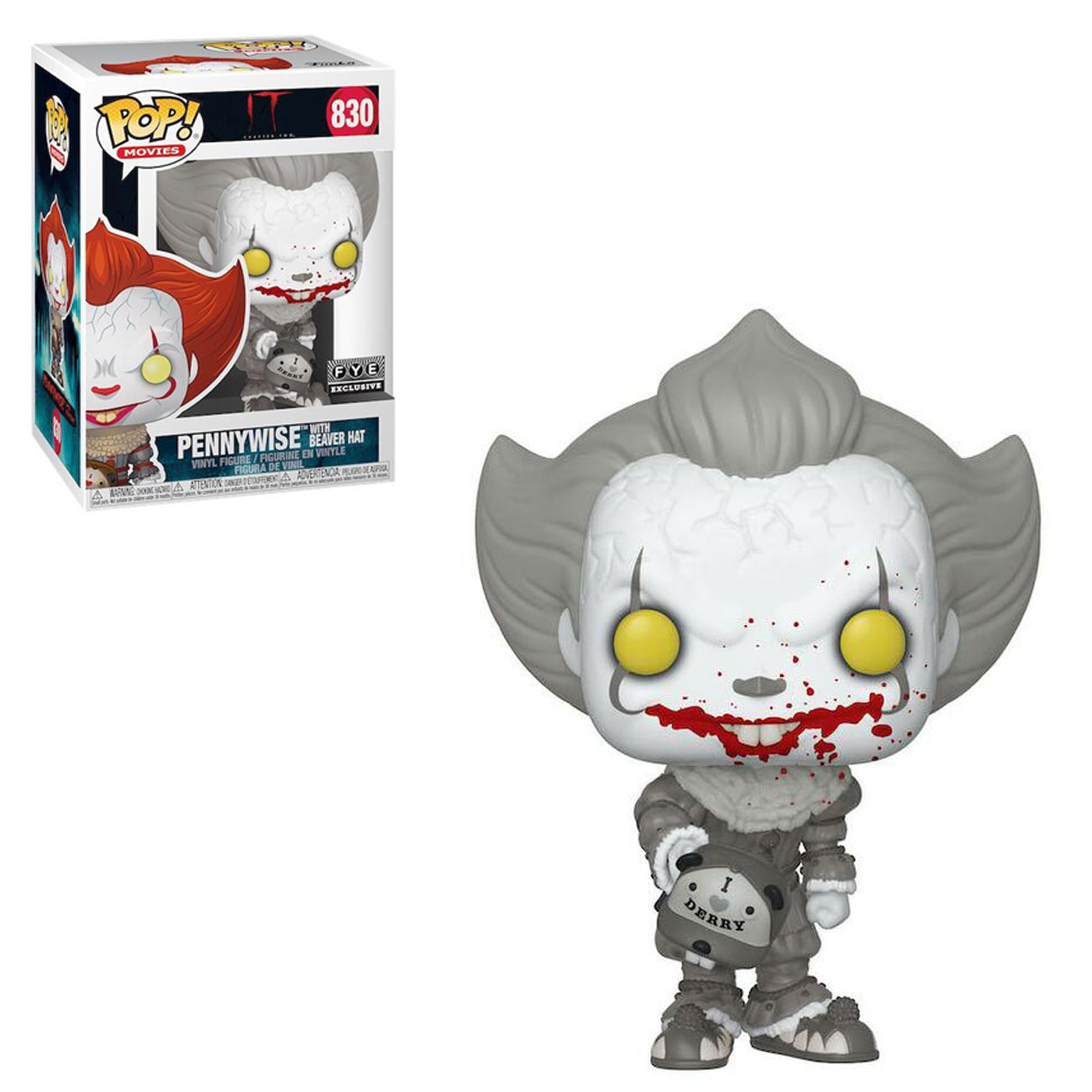 It Chapter 2 Pennywise with Beaver Hat Black and White Exclusive
