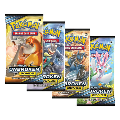 Pokemon TCG Sun and Moon Unbroken Bonds Boosters