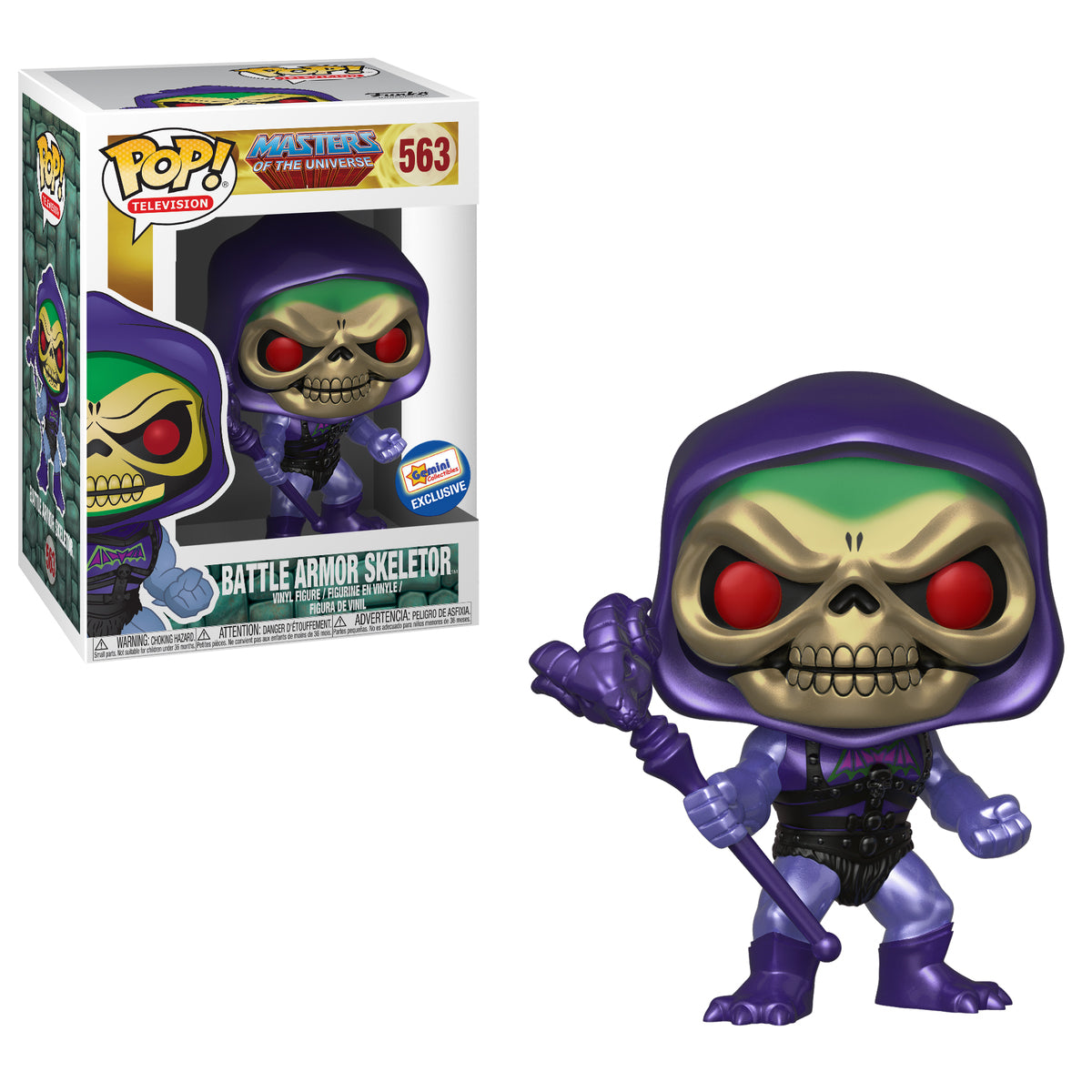 Masters of the Universe Metallic Skeletor with Battle Armor Exclusive