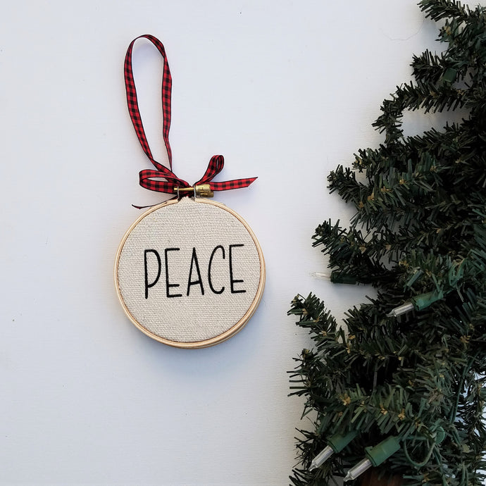 PEACE Farmhouse Christmas Ornament