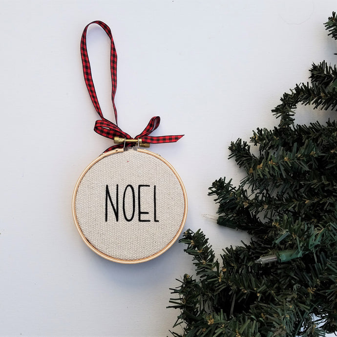 NOEL Farmhouse Christmas Ornament