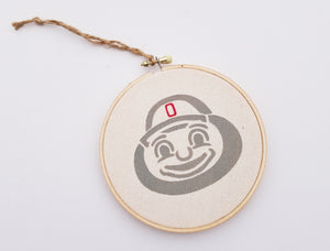 Brutus Buckeye Christmas Ornament