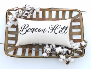 Custom Hometown City Lumbar Pillow