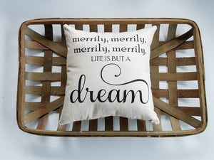 Merrily, merrily, life is but a dream | Nursery Decorations