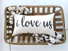 I Love Us Decorative Accent Lumbar Pillow
