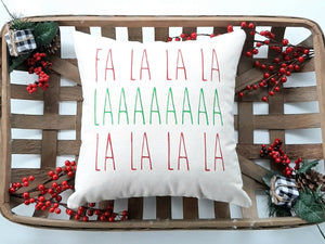 Fa La La Christmas Pillow
