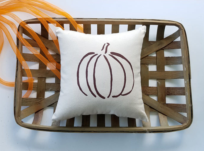 Rustic Pumpkin Pillow | Modern Farmhouse Autumn Decor