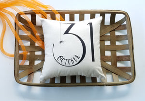 October 31 Halloween Pillow | Modern Farmhouse Autumn Decor