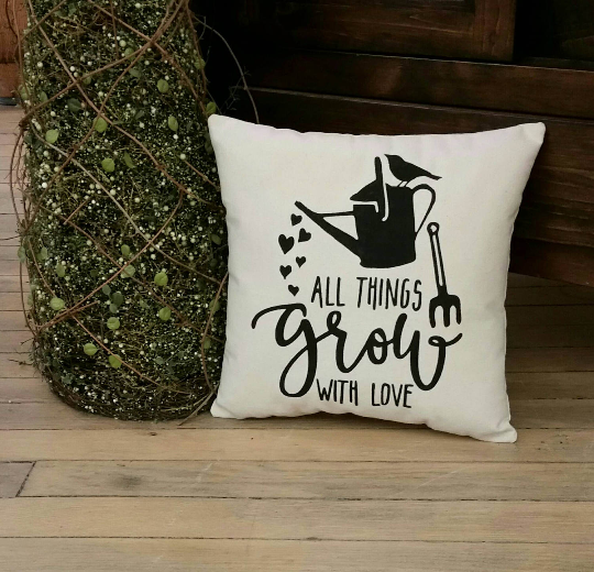 All Things Grow With Love Pillow