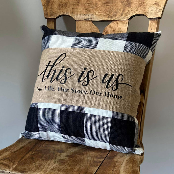 Burlap Pillow Wrap Only