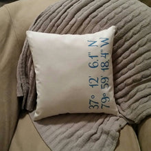 GPS Coordinates Pillow