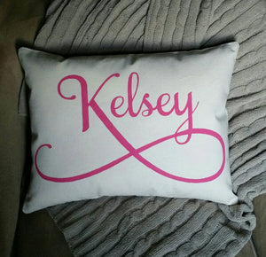 Personalized Name pillow | Preteen, Teenage Girl decor | Complete stuffed pillow | Great all occasion gift for girls!