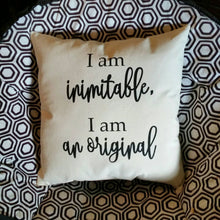 I am inimitable I am an original pillow | Hamilton Musical | Musical Gifts | Theater Gifts | Broadway Gifts | Alexander Hamilton | Theatre