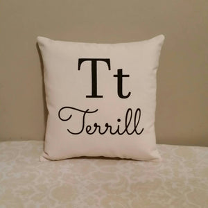 Flashcard Style Family Custom Name Pillow