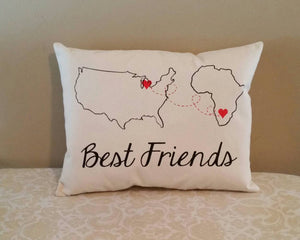 Miles Apart Pillow | Country to Country