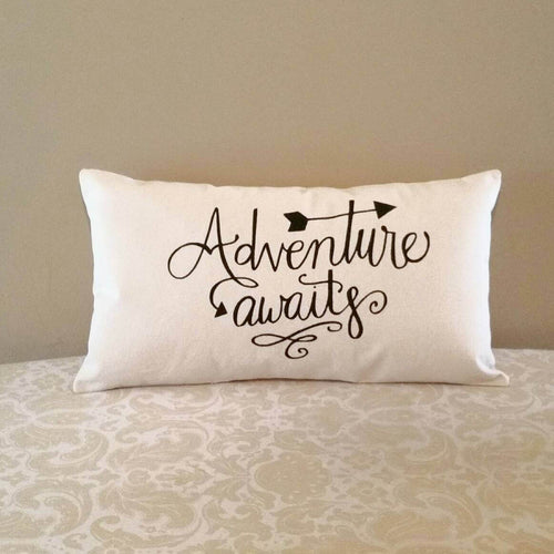 Adventure Awaits Pillow