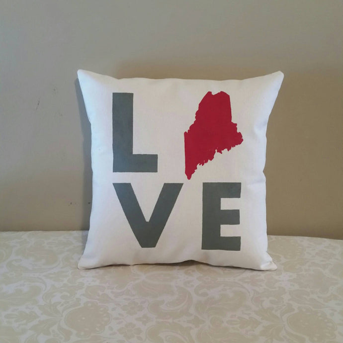 State Love Pillow | Housewarming Gift