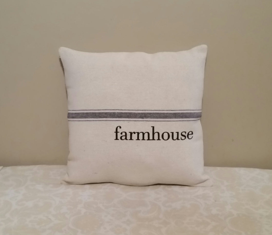Farmhouse Grain Sack Pillows