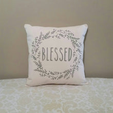 Blessed Farmhouse Wreath Pillow