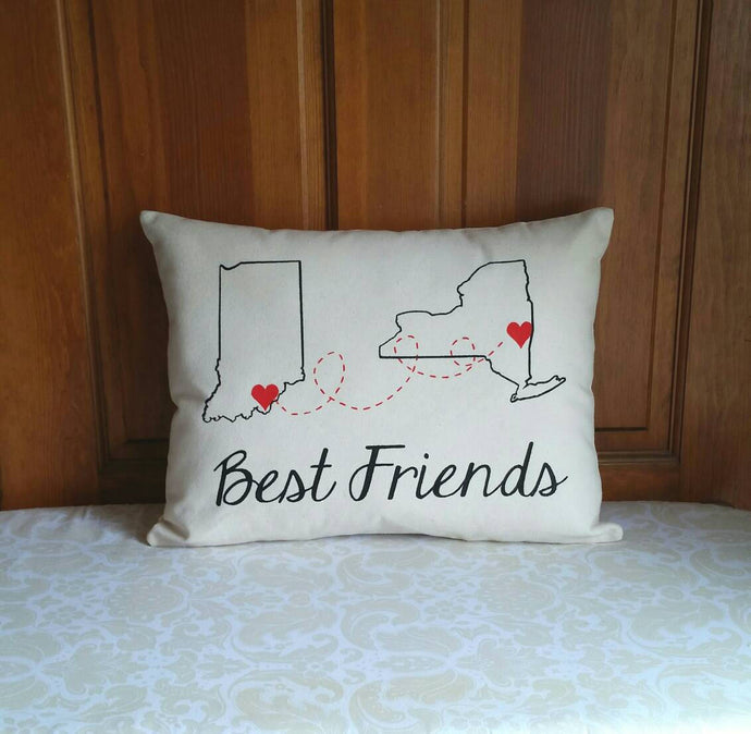 State to State Long Distance Best Friends Gift