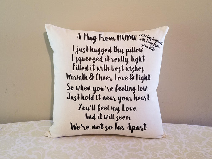 Missing You Gift Pillow