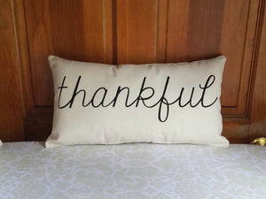 Thankful Modern Farmhouse Pillow