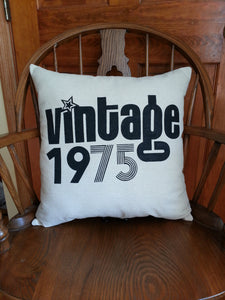 Vintage 1978 40th Birthday Pillow