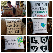 Custom Quote, Verse, Words Pillow, 18x18 inch square