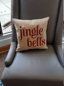 Jingle Bells Christmas Pillow