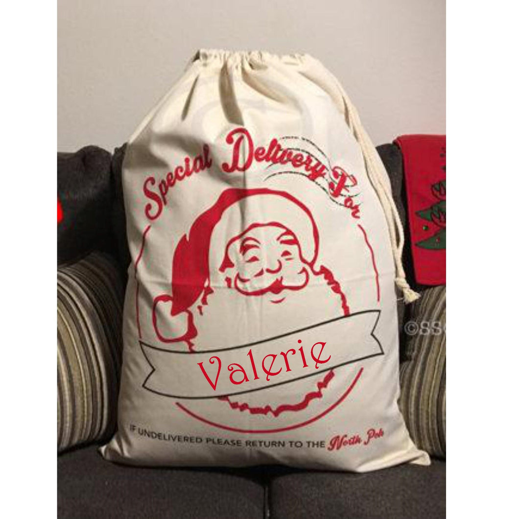 Personalized Christmas Santa Bags