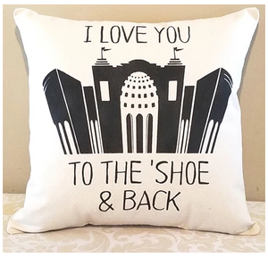 I love you to the Shoe and Back Pillow