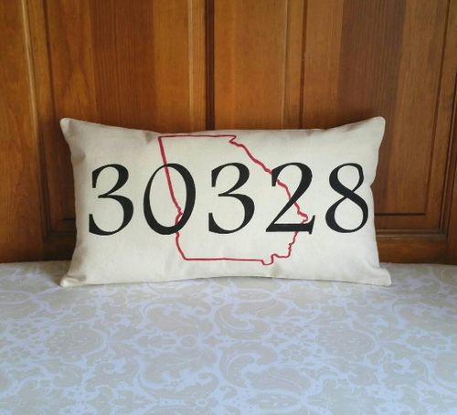Zip Code with State Outline