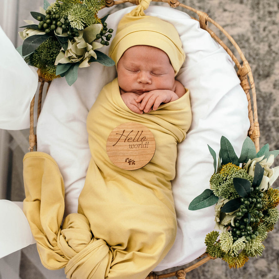 Baby Jersey Wrap and Beanie Set - Gelato