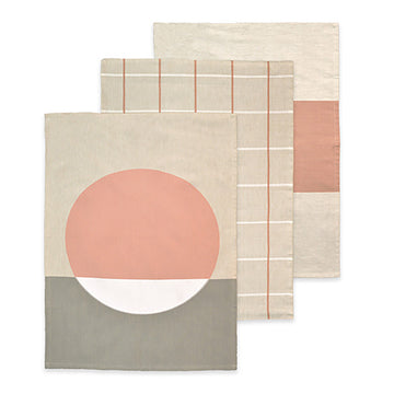 Mali Pink Tea Towel 3 Pack