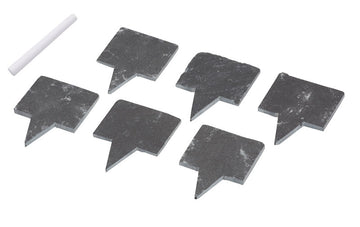 Slate Cheese Markers Set 6