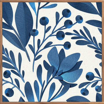 Navy Foliage A 100x100 - PICK UP ONLY