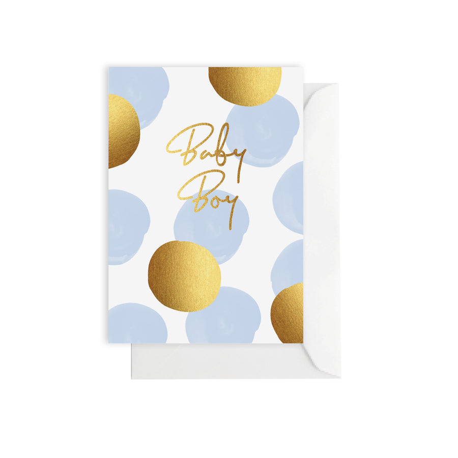 Baby Dots Blue Card