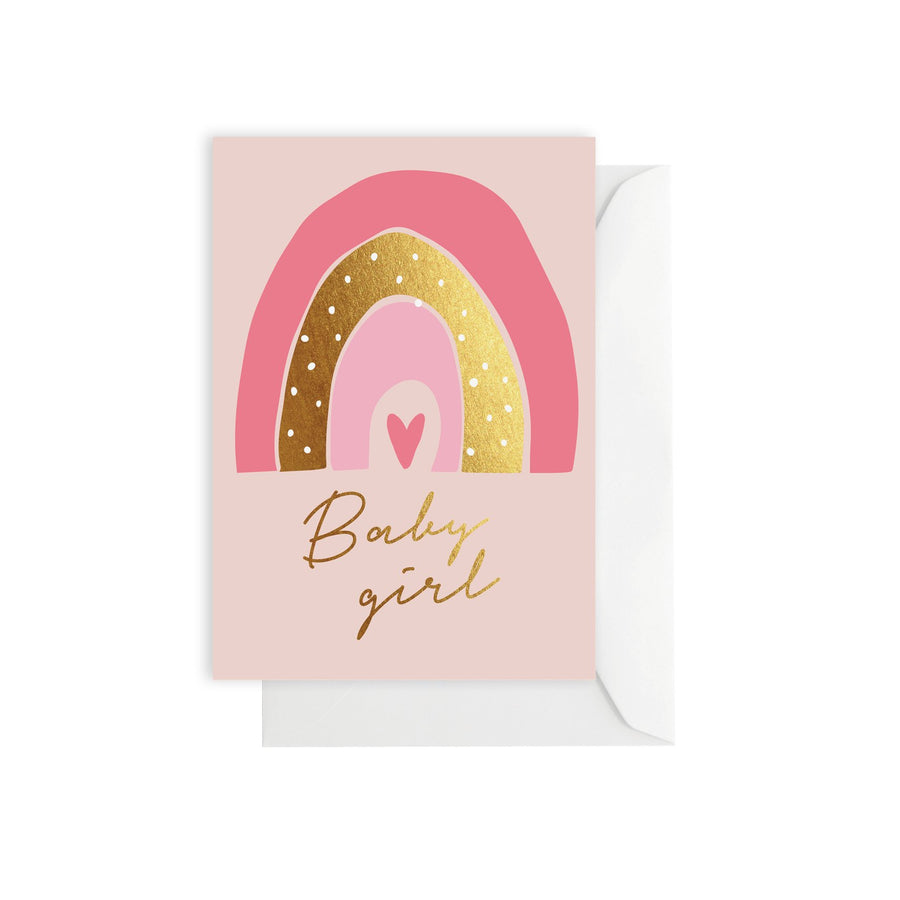 Rainbow Baby Girl Card