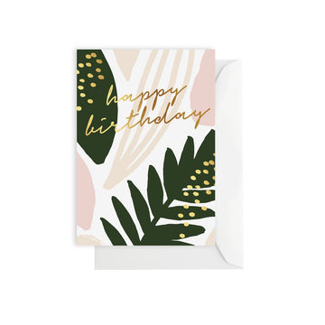 Leaf Happy Birthday Card
