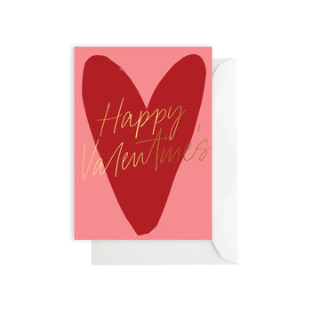 Valentines Red Heart Card