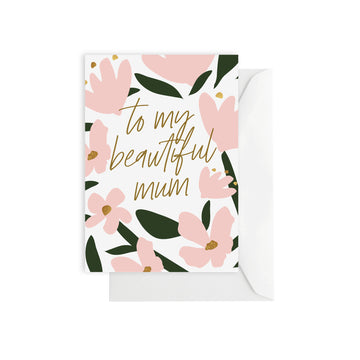 Flower Beautiful Mum Card